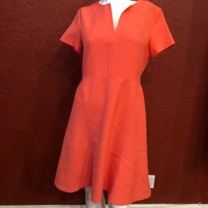 Banana Republic Fit & Flare Dress Coral  size 6